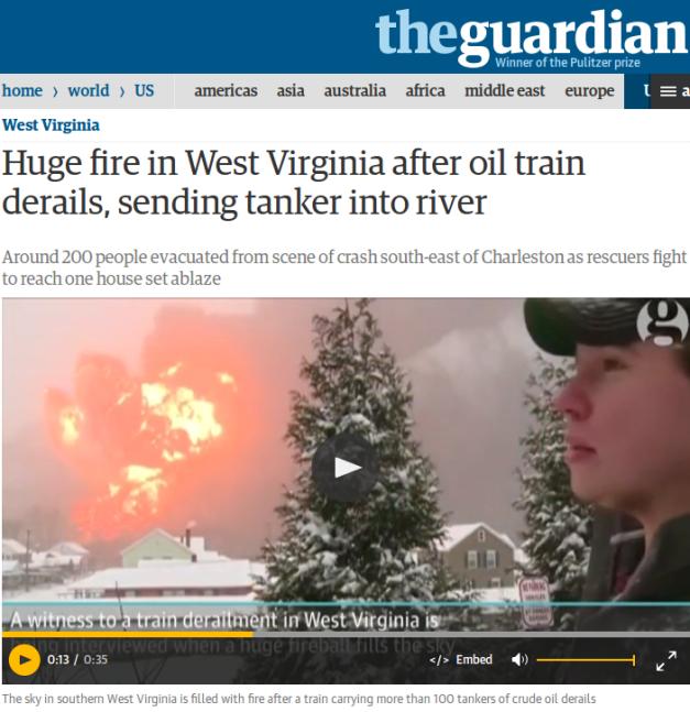 west visginia explosion train